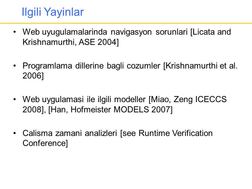 Ilgili Yayinlar Web uyugulamalarinda navigasyon sorunlari [Licata and Krishnamurthi, ASE 2004]